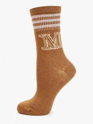 Коричневые итальянские носки Max Mara Leisure