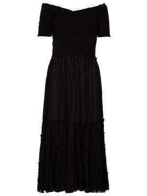 Платье миди - черное Poupette St Barth