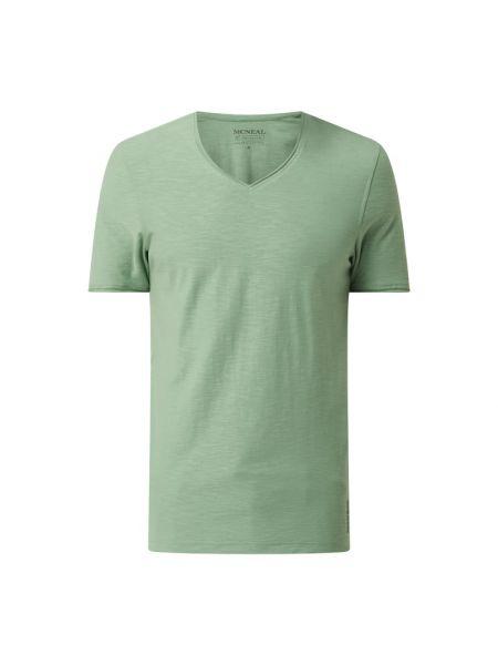 Zielony t-shirt z dekoltem w serek bawełniany Mcneal