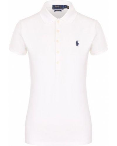 Белое поло с логотипом Polo Ralph Lauren