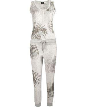 Коричневый бархатный спортивный костюм без рукавов Bogner