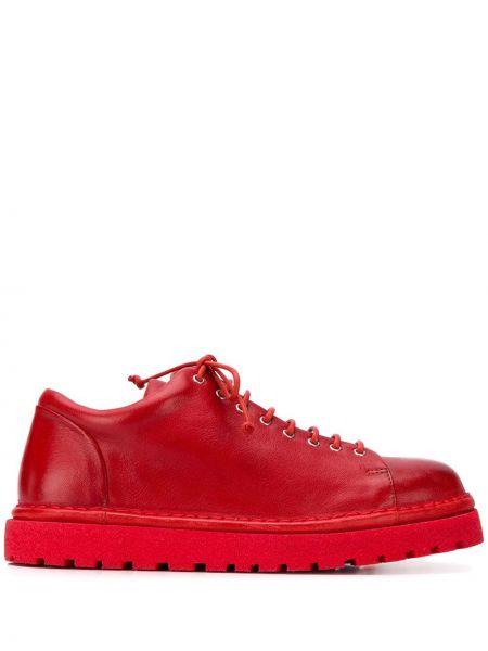 Sneakersy na platformie skórzane zasznurować Marsell