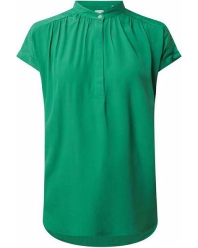 Zielona bluzka krótki rękaw z wiskozy Seidensticker