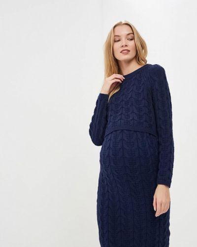 Платье осеннее синее мамуля красотуля ..в ожидании чуда