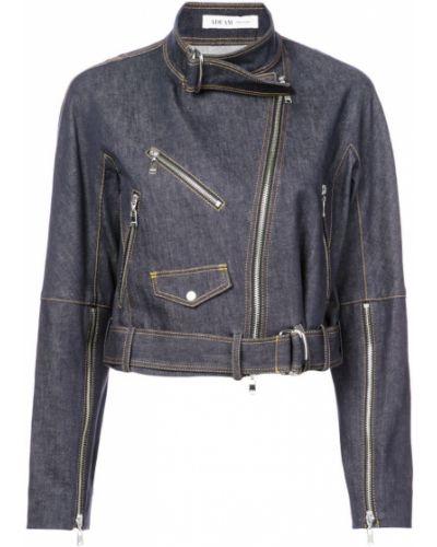 Синяя джинсовая куртка на молнии Adeam