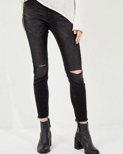 Черные джинсы с высокой посадкой One Teaspoon