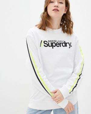 Толстовка белая Superdry