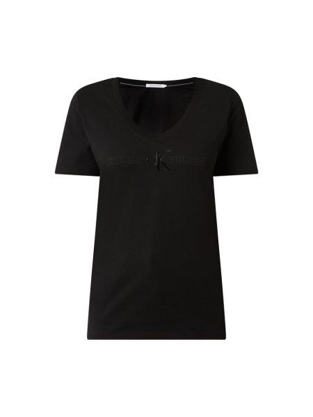 Bawełna bawełna czarny koszula jeansowa z dekoltem Calvin Klein Jeans