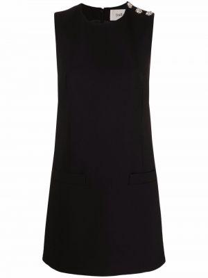 Платье мини без рукавов - черное Ba&sh