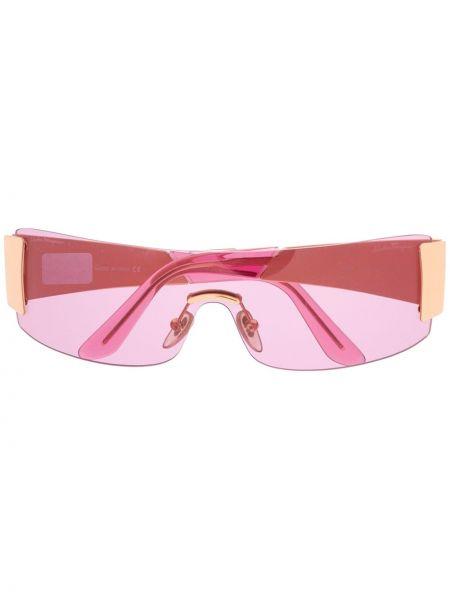 Розовые солнцезащитные очки металлические Salvatore Ferragamo Pre-owned