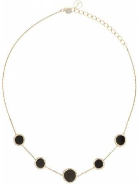 С ониксом желтое ожерелье с бриллиантом Anissa Kermiche