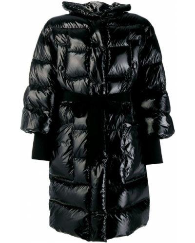 Стеганая куртка черная укороченная Red Valentino