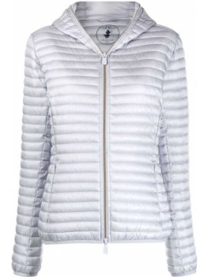 Зимняя куртка с капюшоном длинная Save The Duck