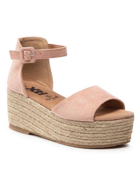 Sandały espadryle - różowe Xti