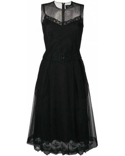 Czarna sukienka na co dzień Simone Rocha