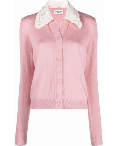 Шерстяной кардиган - розовый Essentiel Antwerp