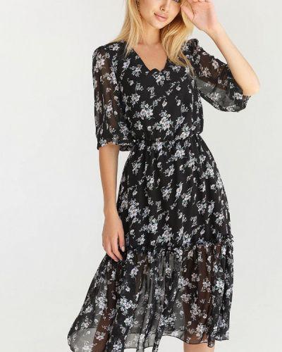 Черное зимнее платье Gepur