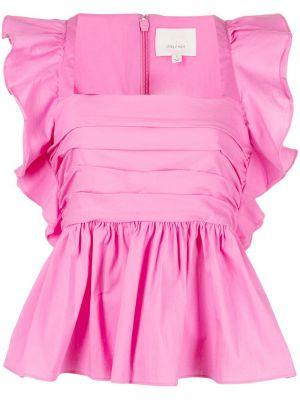 Блузка с баской - розовая Cinq À Sept