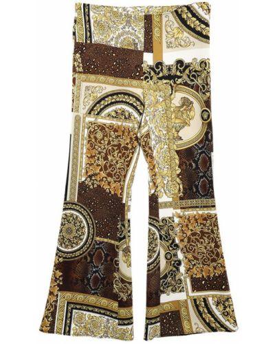 Spodnie z printem Versace