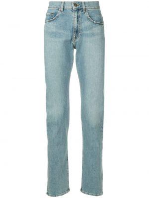 Классические синие джинсы с карманами на пуговицах Cerruti 1881