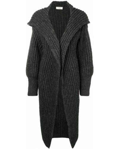 Серое шерстяное пальто с воротником Maison Flaneur