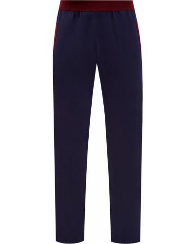 Хлопковые синие спортивные брюки эластичные Bertolo Cashmere