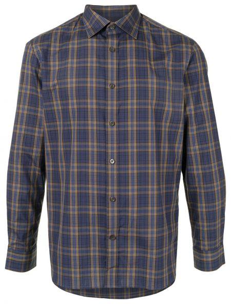 Niebieska koszula bawełniana zapinane na guziki Kent & Curwen