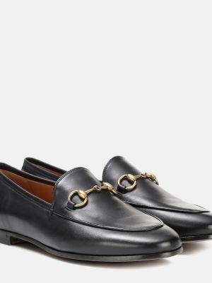 Лоферы черные классические Gucci
