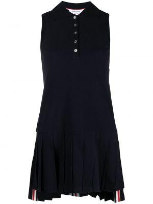 Klasyczna niebieska sukienka mini bez rękawów Thom Browne