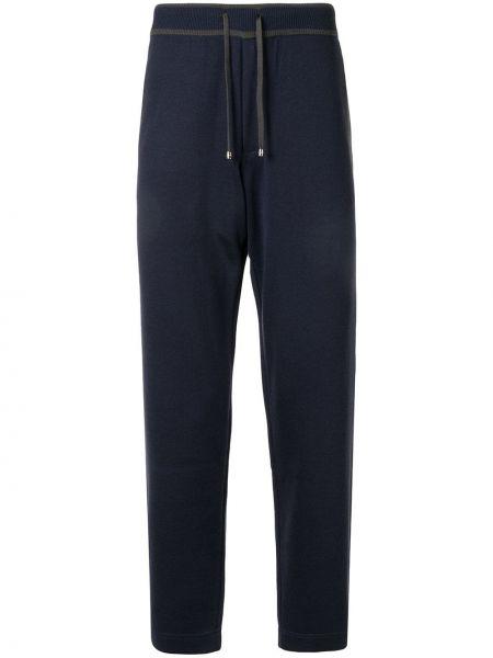 Z kaszmiru niebieskie spodnie Stefano Ricci
