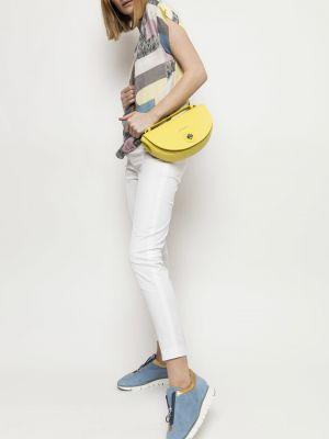Białe spodnie materiałowe Deni Cler Milano