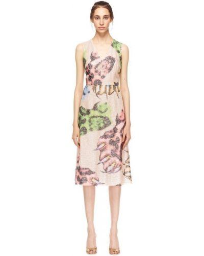 Платье миди с V-образным вырезом с абстрактным принтом Giles