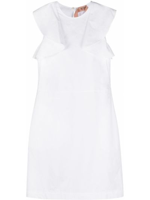 Платье трапеция - белое N°21