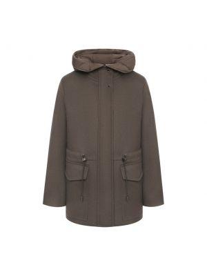 Шерстяная куртка - коричневая Moorer