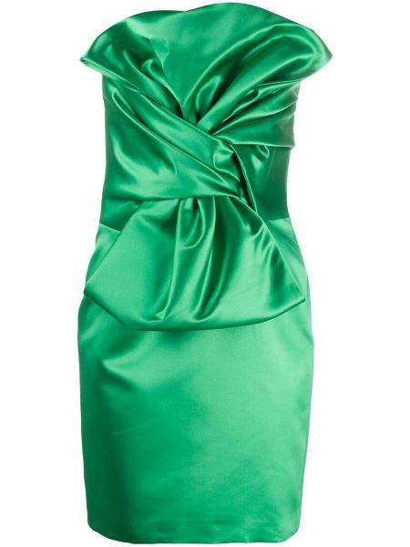 Платье мини на молнии зеленый Giuseppe Di Morabito