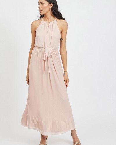 Розовое вечернее платье Vila