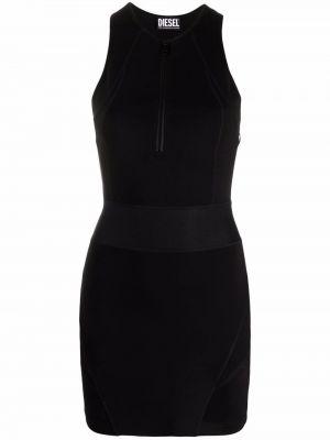 Черное платье без рукавов Diesel