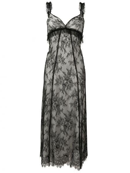 Платье миди с открытой спиной черное Alexa Chung