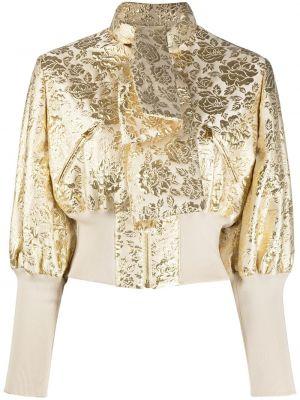 Желтый пиджак с карманами с воротником Moschino