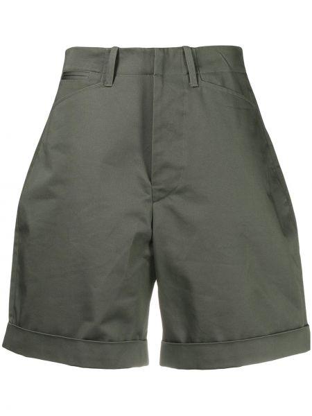 Зеленые хлопковые шорты с карманами Faith Connexion
