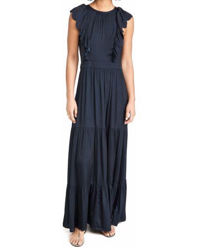 Облегающее платье макси с декольте стрейч Scotch & Soda