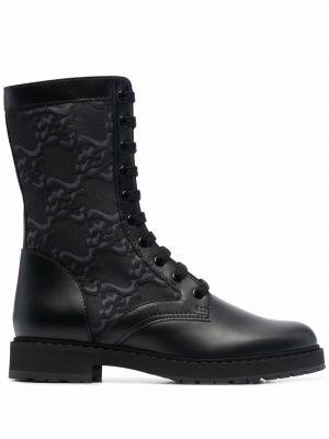 Ботильоны на шнуровке - черные Fendi