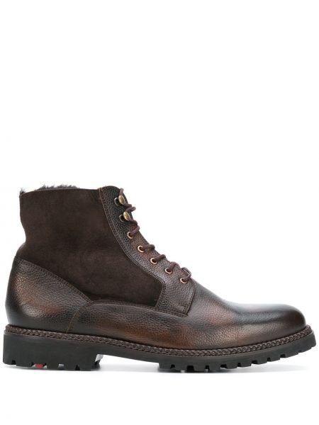 Коричневые кожаные ботинки Lloyd