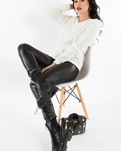 Облегающие черные леггинсы с карманами Lady Taiga