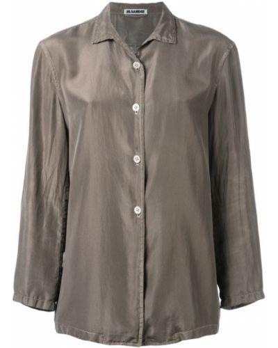 Желтая классическая рубашка винтажная на пуговицах Jil Sander Pre-owned