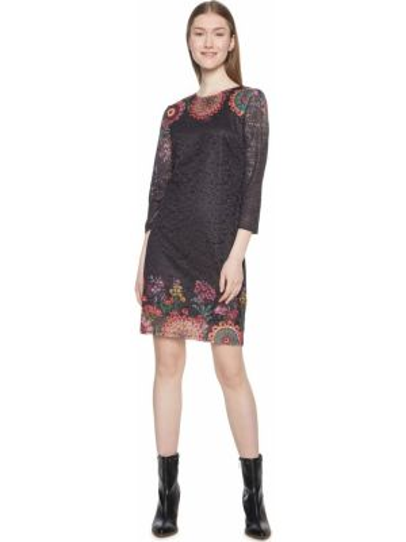 Платье мини с цветочным принтом прямое Desigual