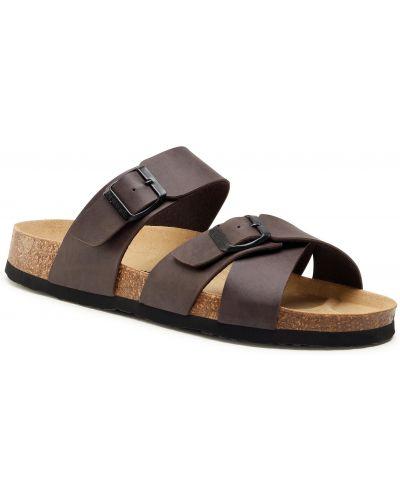 Brązowe sandały na lato Dr. Brinkmann