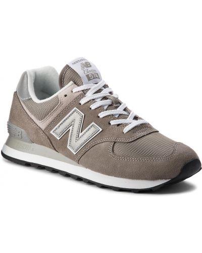 Skórzany sneakersy zamsz sztuczna skóra New Balance