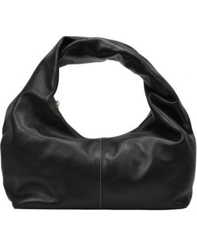 Czarna torebka skórzana Yuzefi
