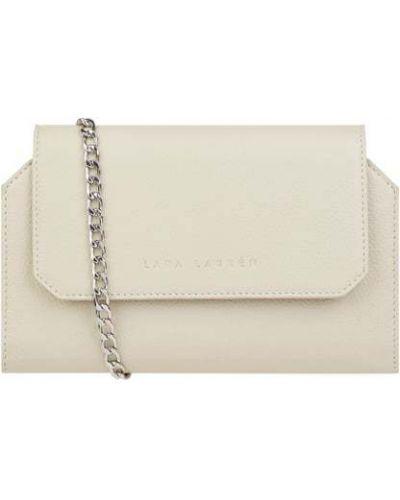 Biała kopertówka skórzana Lara Lauren